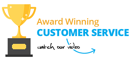 Award-winning customer service