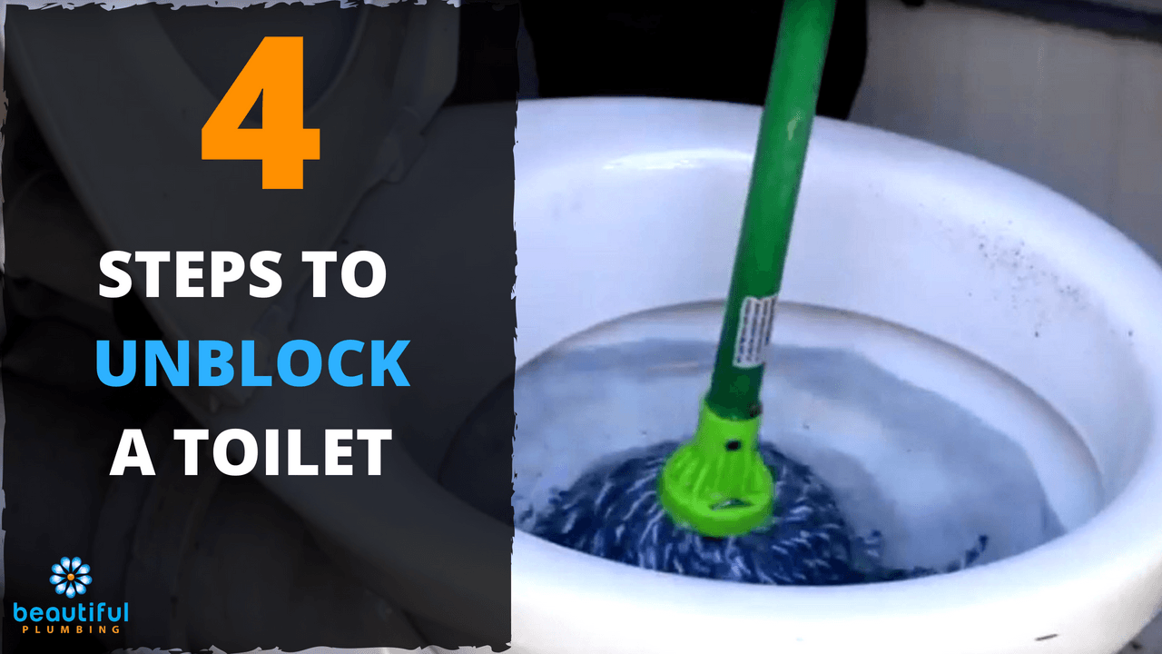 how to unblock toilet with a mop. Black Bedroom Furniture Sets. Home Design Ideas