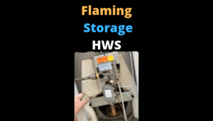 Flaming Storage Hot Water System