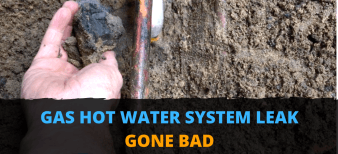 Gas Hot Water System Leak